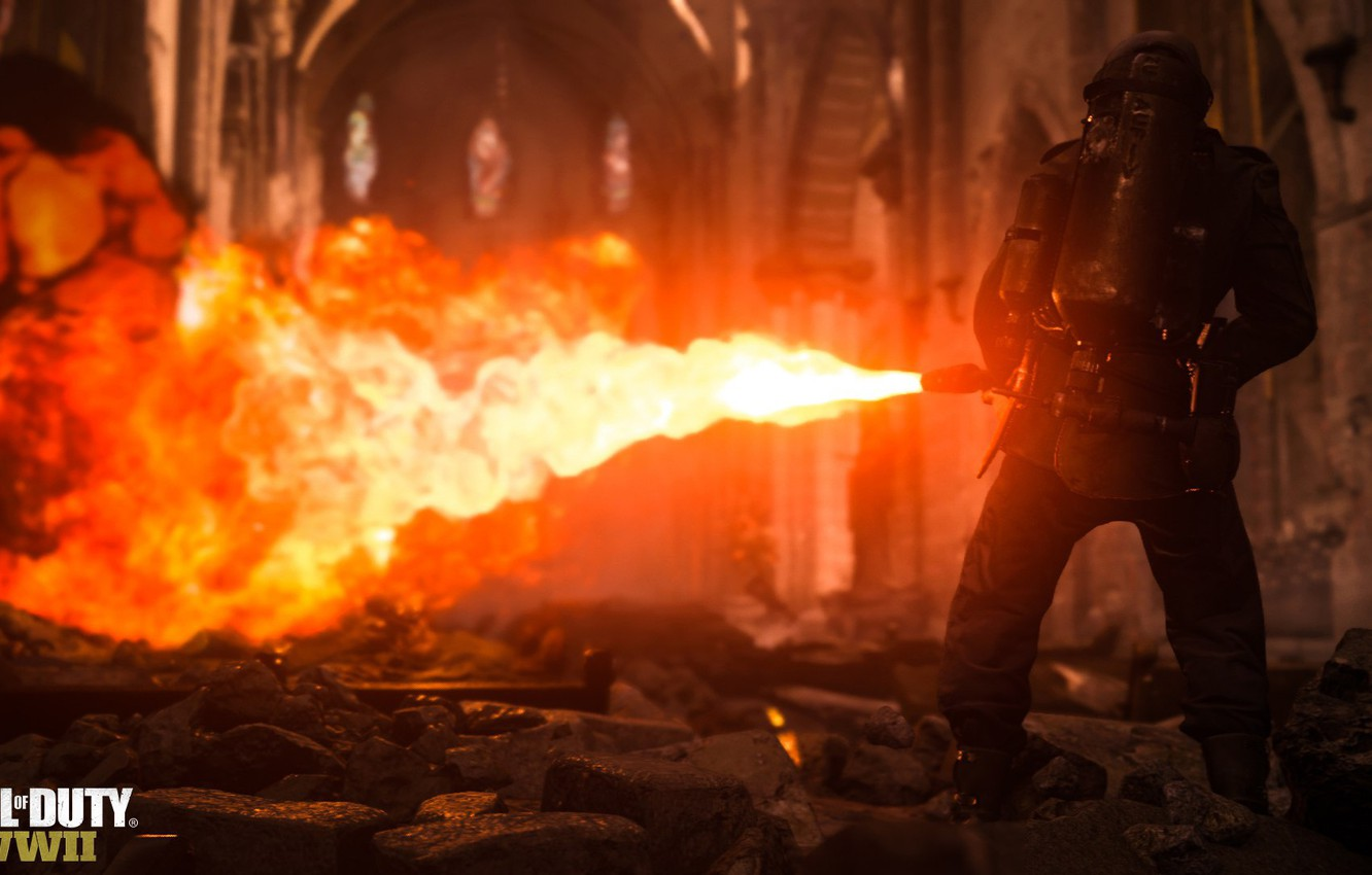 Wallpaper Call Of Duty Fire Weapon Flamethrower Soldier Cod