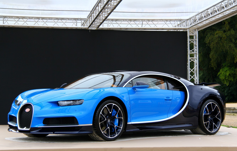 Photo wallpaper bugatti, blue, chiron