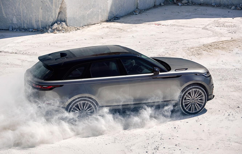 Photo wallpaper Land Rover, Range Rover, Sand, 2017, Velar