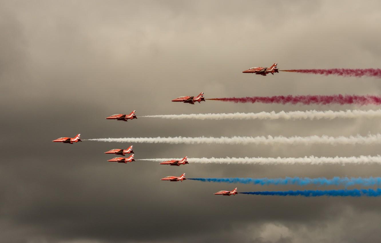 Photo wallpaper smoke, show, aircraft