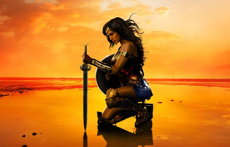 Photo wallpaper Girl, Action, Fantasy, Wonder Woman, Hot, Beautiful, Warrior, Female, Eyes, year, Woman, EXCLUSIVE, DC Comics, …