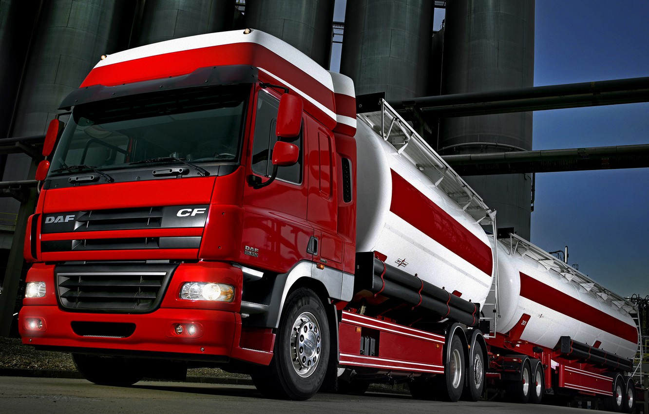 Wallpaper red, plant, the trailer, tank, DAF, DAF, Space Cab