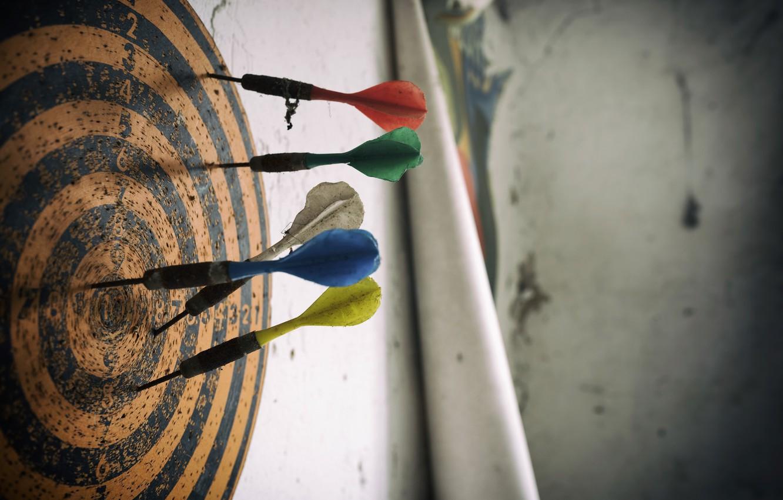 Photo wallpaper background, Darts, target