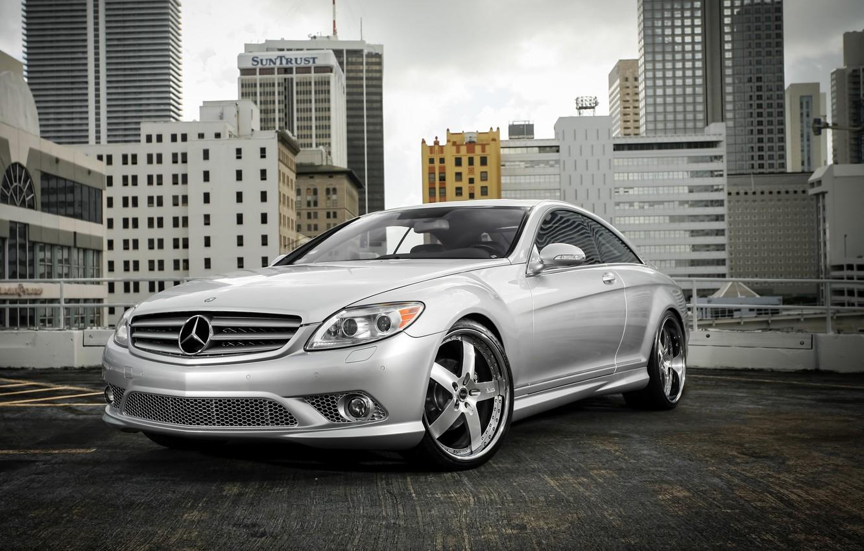 Photo wallpaper Mercedes, wheels, rear, Vellano, Lorinser, CL63, spoiler, broadcast, CL550