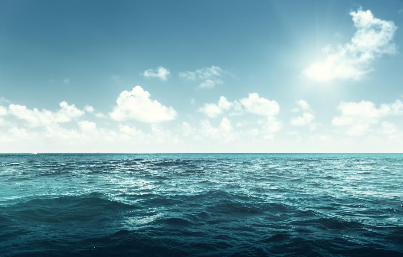 Photo wallpaper sea, the ocean, sea, ocean, blue, seascape, wave