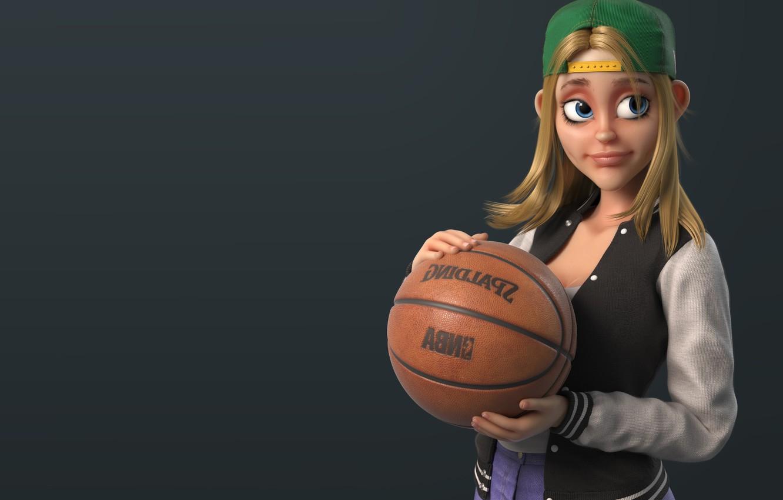 Photo wallpaper the ball, art, basketball, basketball, girl, The Jungle Bunch !, Dr Zenith