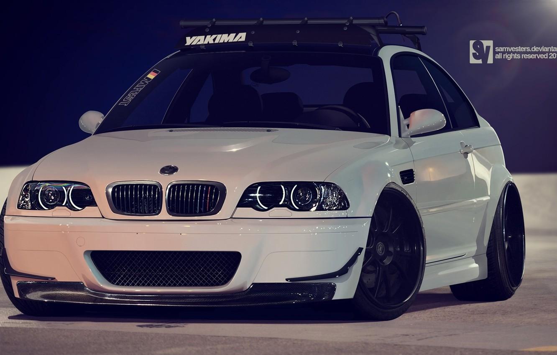 Photo wallpaper BMW, E46, Stance