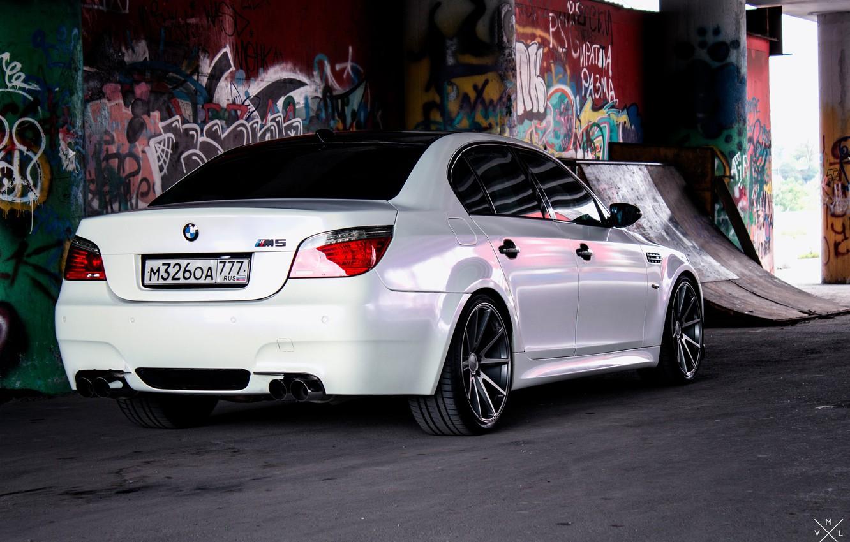 Photo wallpaper BMW, E60, m5