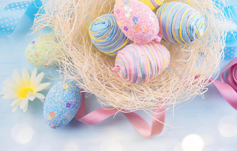 Photo wallpaper flowers, holiday, eggs, Easter, socket