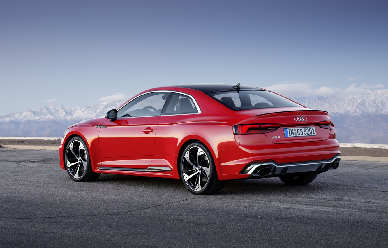 Photo wallpaper Audi, German, Red, RS5, 2018, Road, RS, A5