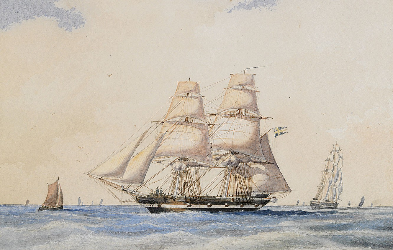 Photo wallpaper ships, sails, 1865, Jacob European Communities V United Kingdom, Brig Nordenskjöld