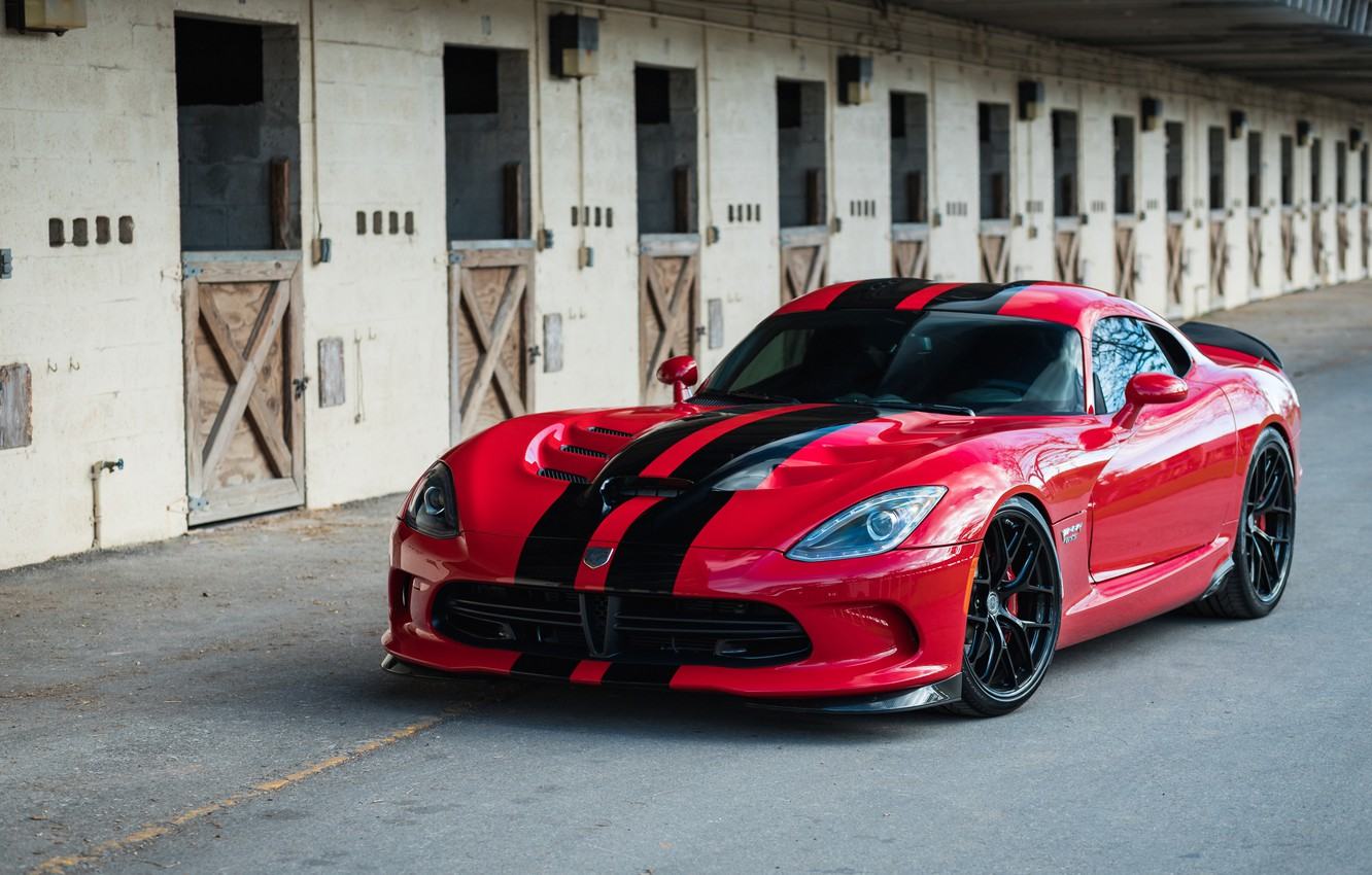 Photo wallpaper Dodge, Viper, Black, with, GTS, HRE, Gloss, Lightweight, R101