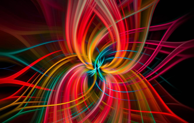 Photo wallpaper rays, light, line, pattern, paint