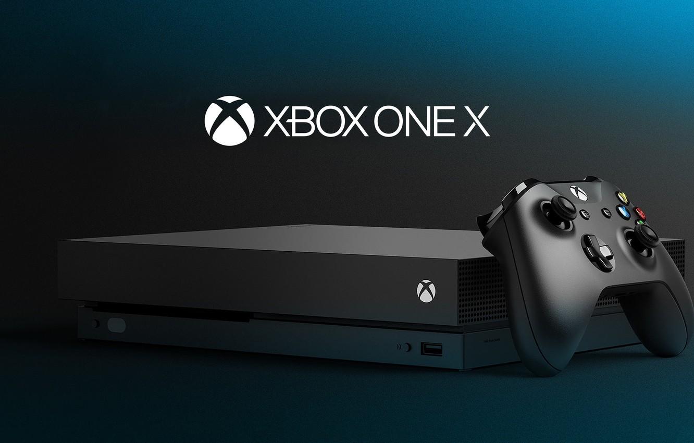 Photo wallpaper Microsoft, logo, control, Xbox, joystick, video game, console, technology, high tech, Xbox One X