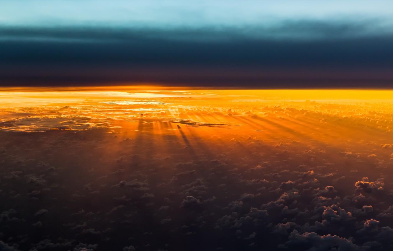 Photo wallpaper the sky, light, earth, morning