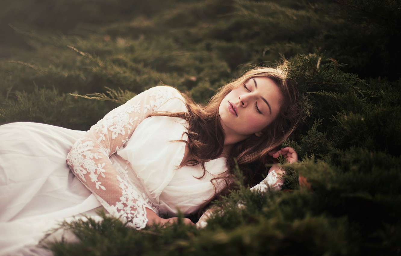 Photo wallpaper girl, sleep, Andrea Peipe, And then the sun went down