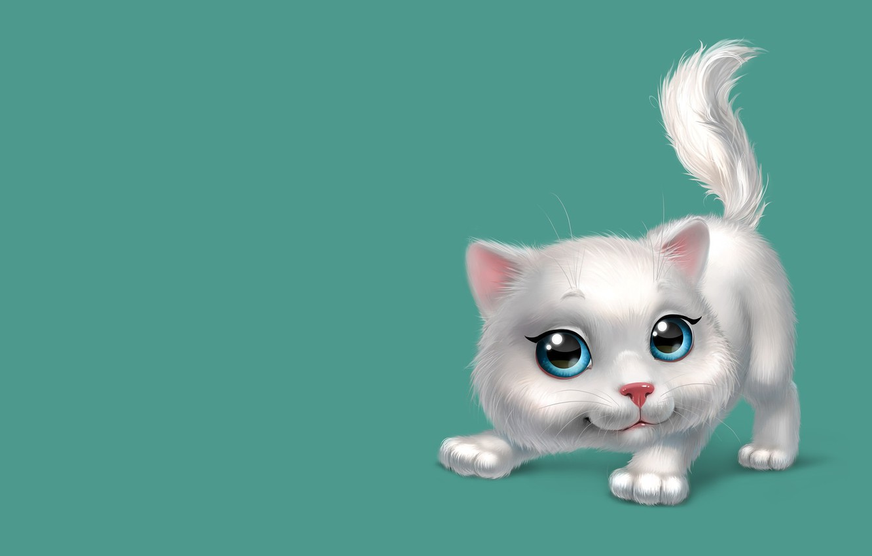Photo wallpaper mood, the game, art, kitty, children's, kitty