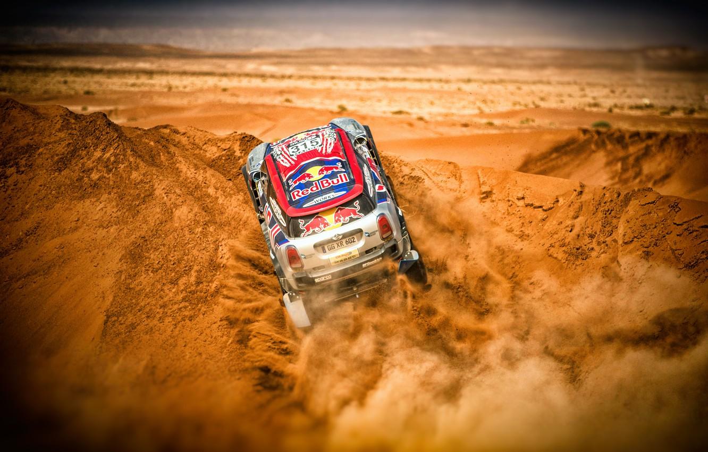 Photo wallpaper Sand, Mini, Sport, Desert, Race, Rally, Dakar, Dakar, SUV, Rally, Dune, X-Raid Team, 315, MINI …
