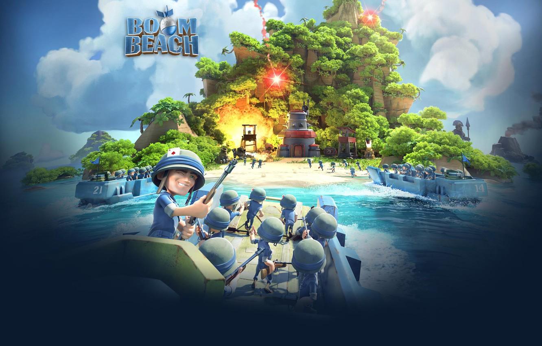 Photo wallpaper Boom Beach, Supercell, Boom Beach