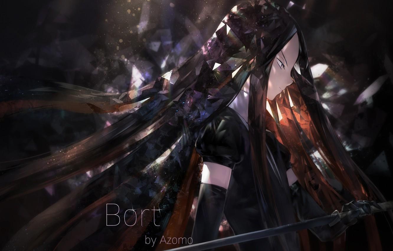 Photo wallpaper girl, sword, Azomo