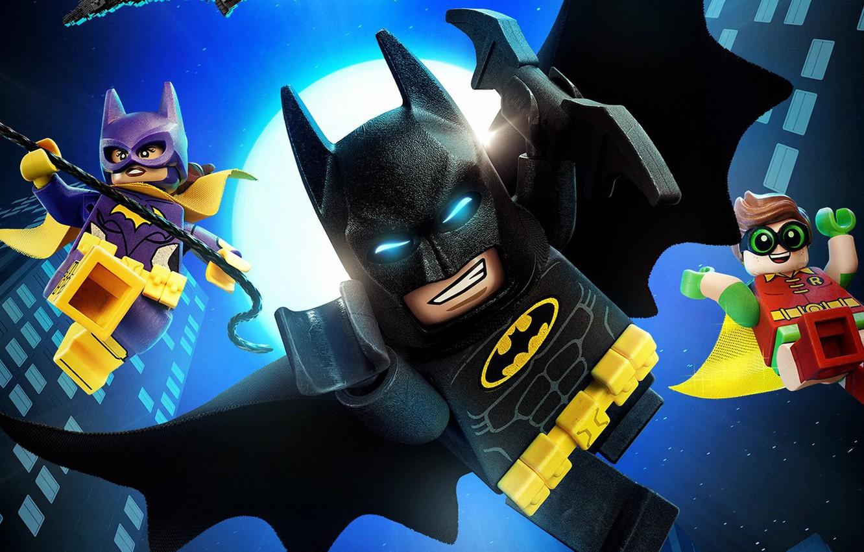 Photo wallpaper city, cinema, Batman, movie, bat, Lego, Robin, hero, film, animated film, DC Comics, Bruce Wayne, …
