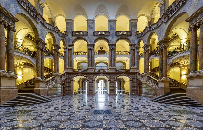 Photo wallpaper Germany, Munich, architecture, the court