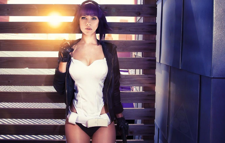 Photo wallpaper Scarlett Johansson, Photoshop, Ghost in shell, Fake, Major Motoko Kusanagi
