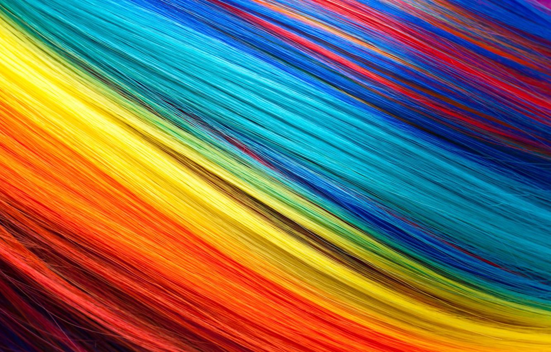 Photo wallpaper hair, rainbow, colors, colorful, rainbow, texture, hair