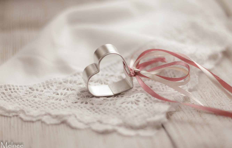 Photo wallpaper heart, tape, shawl
