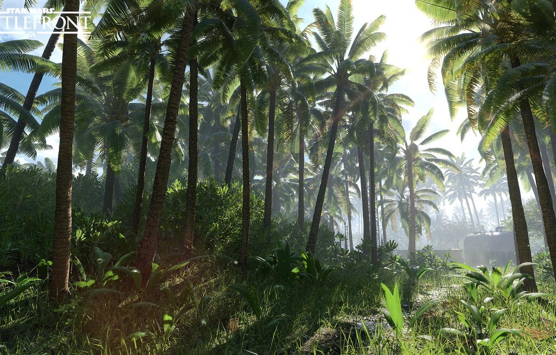 star wars battlefront scarif vegetation palmy priroda rastit