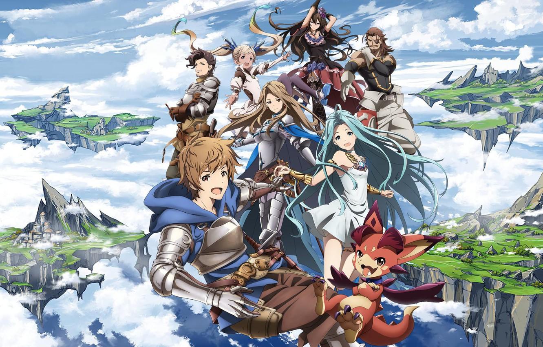 Photo wallpaper sword, gun, game, armor, anime, ken, blade, dragon, asian, warrior, japanese, oriental, wepon, Granblue Fantasy, …