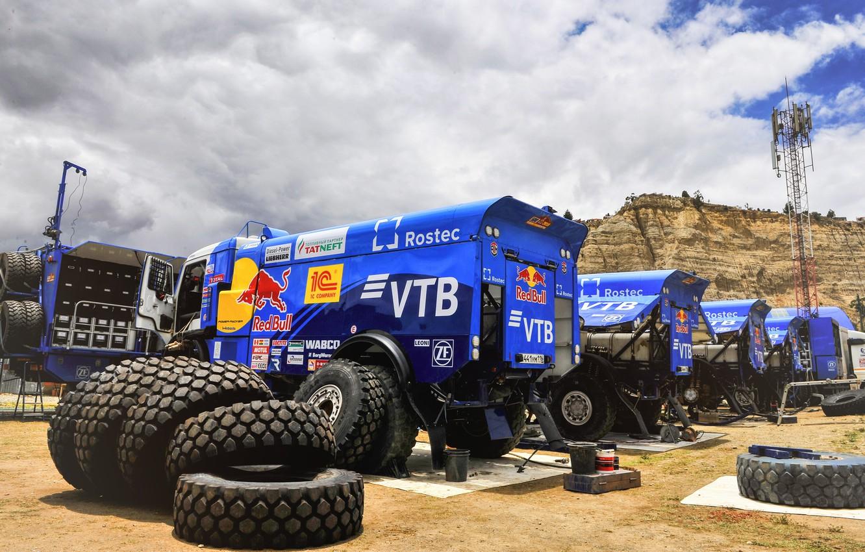 Photo wallpaper Speed, Truck, Master, Russia, Kamaz, Rally, Dakar, KAMAZ-master, Dakar, Rally, KAMAZ, Tires, Best, RedBull, Master, …