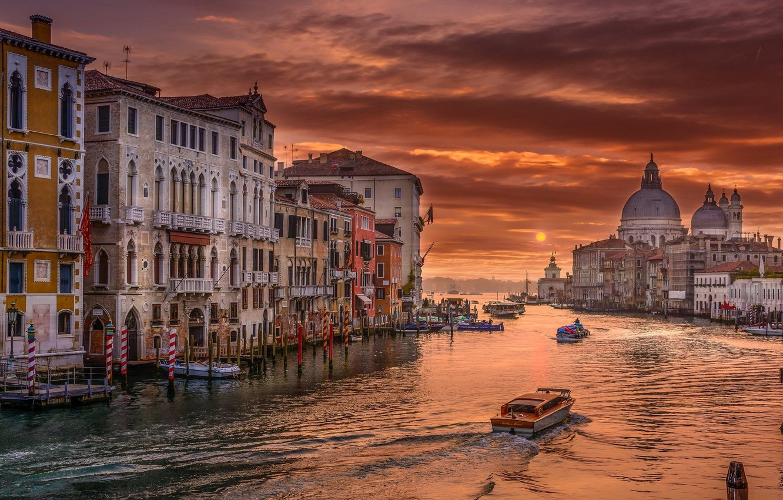 Photo wallpaper the city, the evening, Italy, Venice