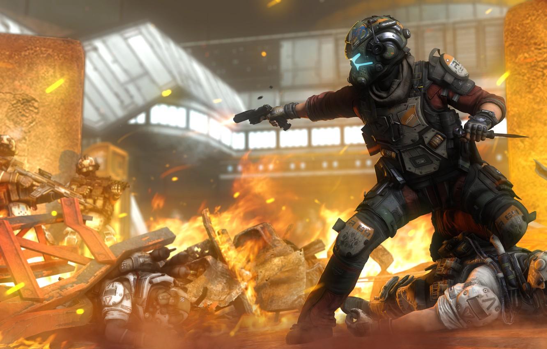 war, soldiers, helmet, pilot, Titanfall