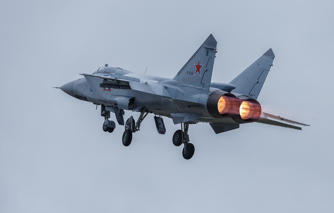 Photo wallpaper fighter-interceptor, weatherproof, The MiG-31, supersonic, MiG-31