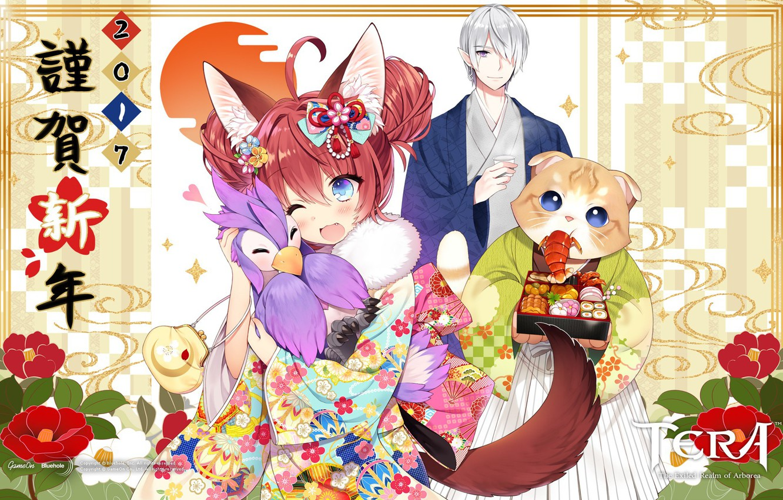 Photo wallpaper kawaii, girl, yukata, nothing, anime, sugoi, subarashii, Tera, japonese, Tera Exiled Realm of Arborea