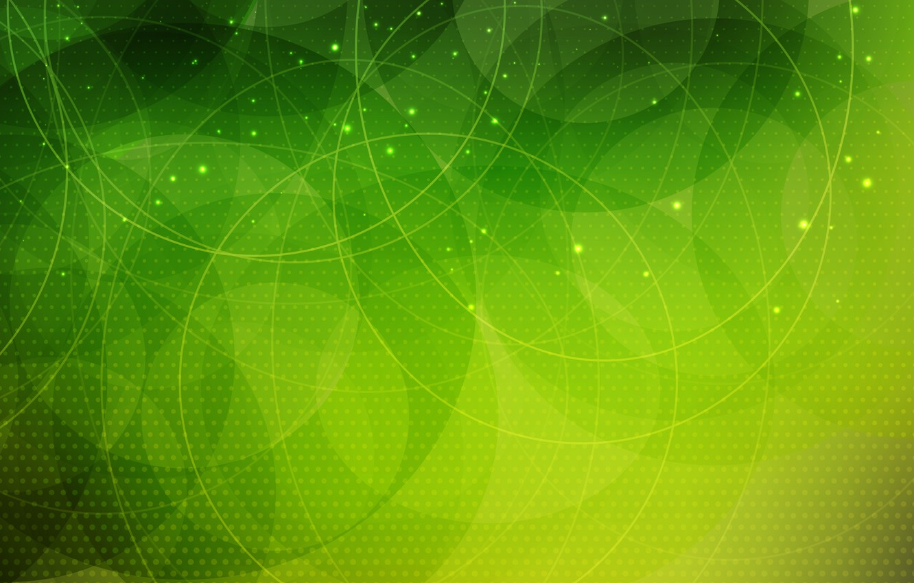 Wallpaper Abstraction Background Green Abstract Circles