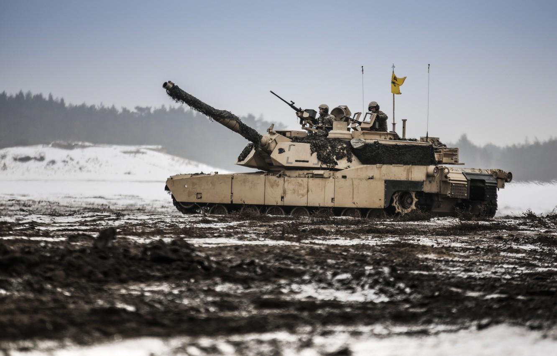Photo wallpaper tank, M1A1, armor, Abrams, Abrams