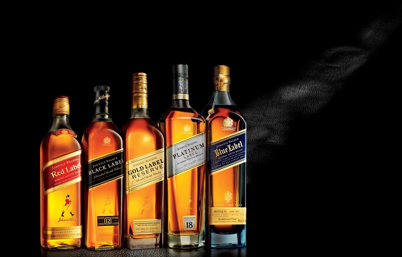 Wallpaper Johnnie Walker, Whisky, Black Label, Blue Label