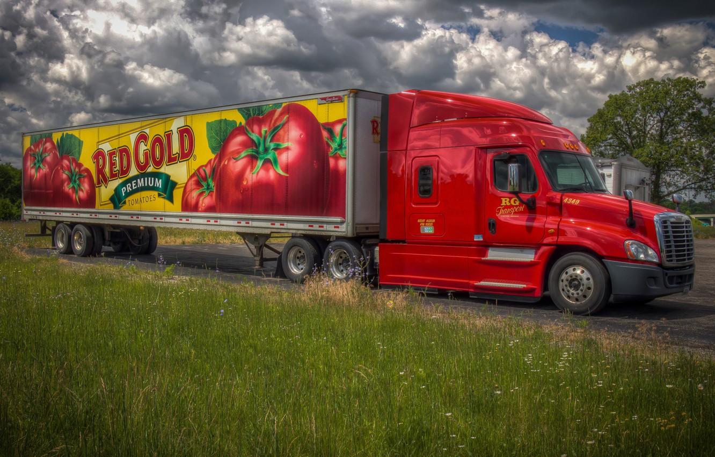 Photo wallpaper machine, advertising, cargo
