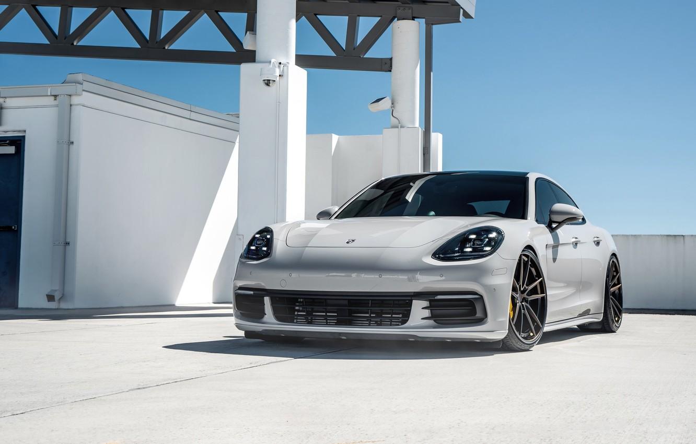 Photo wallpaper Porsche, Panamera, Light, Sky, Turbo, VAG, LED