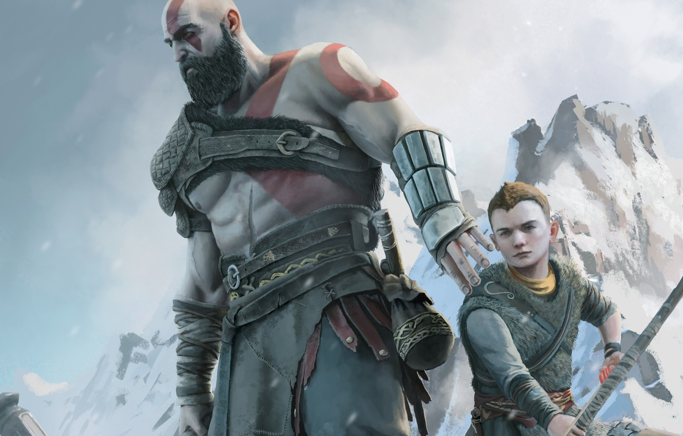 Wallpaper Ps4 Atreus Loki God Of War 4 Kratos Sony Images For