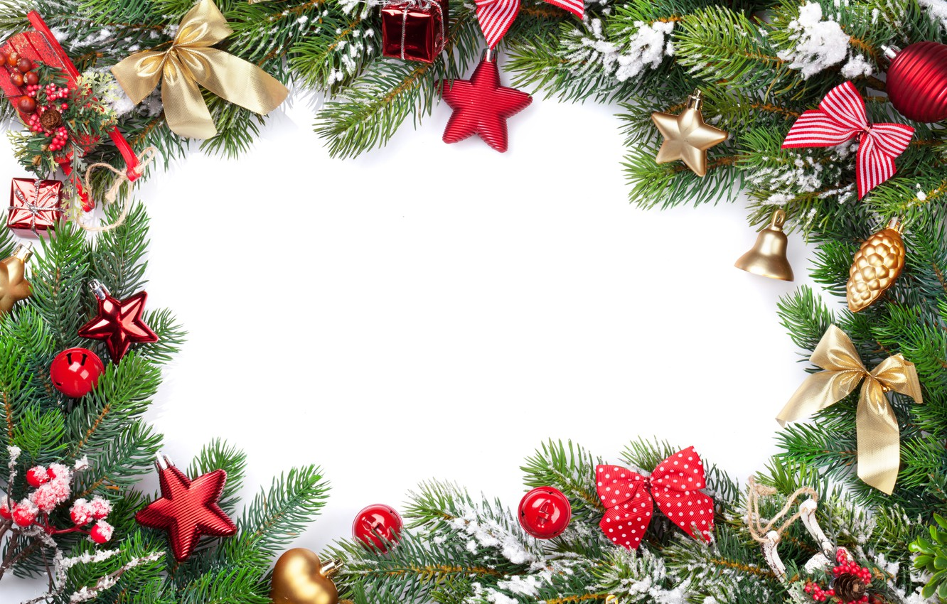 Photo wallpaper decoration, tree, New Year, Christmas, happy, Christmas, New Year, Merry Christmas, Xmas, gift, decoration, frame, …