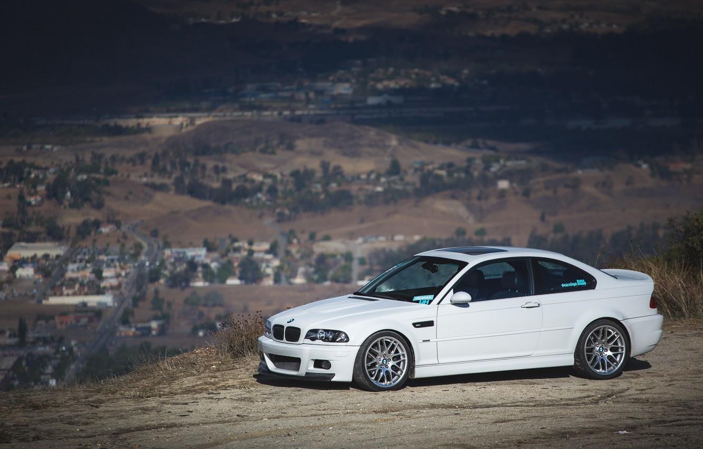 Photo wallpaper BMW, White, E46