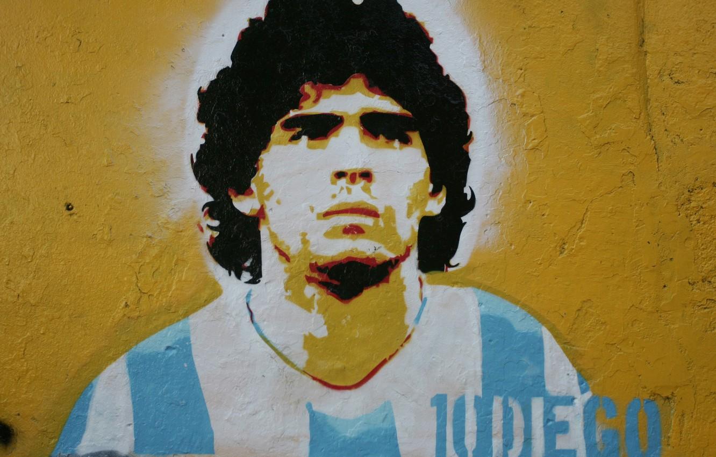 Photo wallpaper Diego Maradona, A dozen, the picture on the wall, Argentine footballer