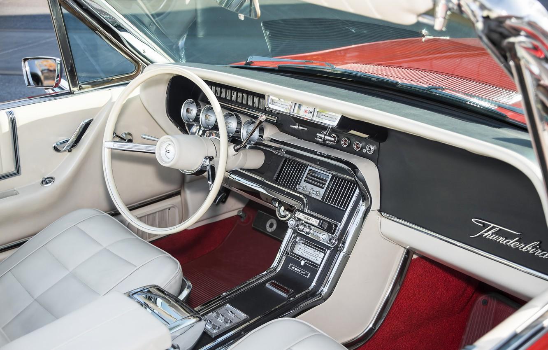Photo wallpaper style, Ford, the wheel, salon, Thunderbird