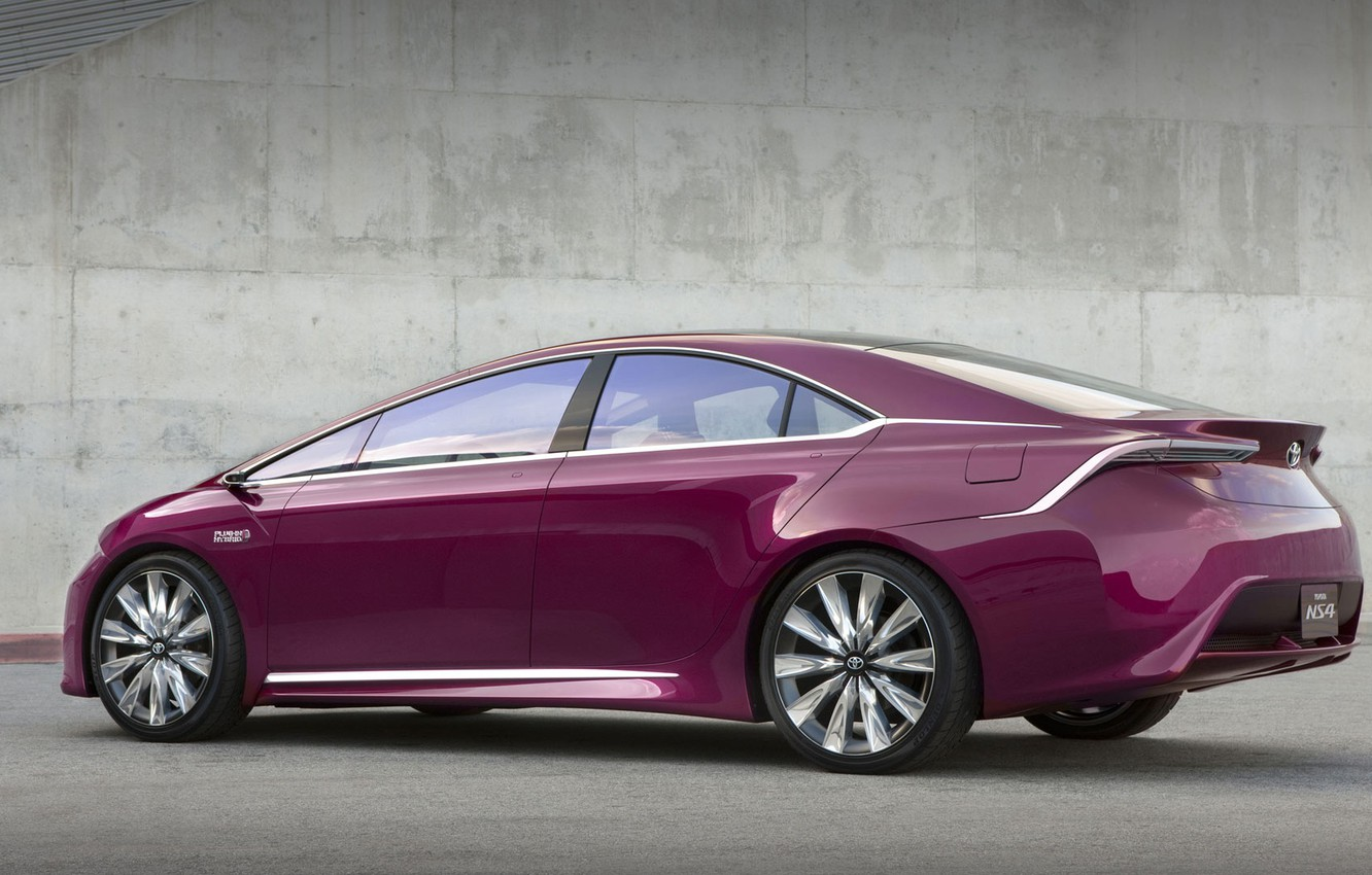 Photo wallpaper concept, Toyota, Hybrid, Plug-in, NS4