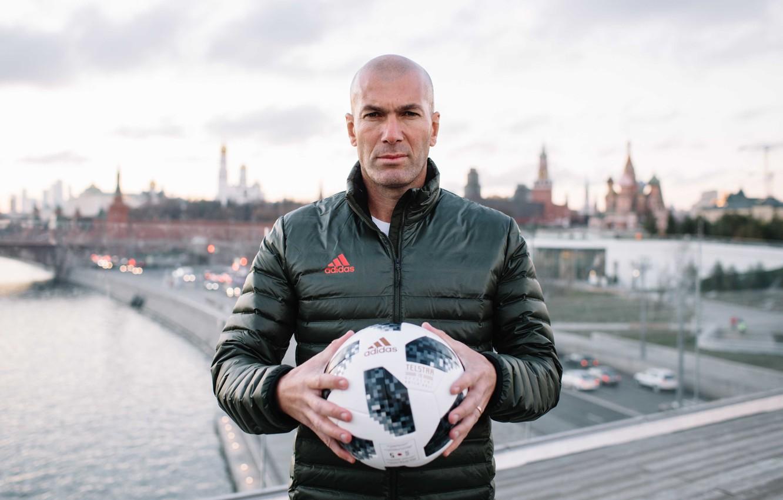 Photo wallpaper The ball, Sport, Football, Moscow, Russia, Adidas, Player, Zidane, FIFA, FIFA, Champion, Zinedine Zidane, World …