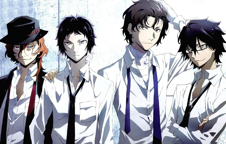 Photo wallpaper anime, art, guys, mafia, Bungou Stray Dogs, Stray dogs literary geniuses