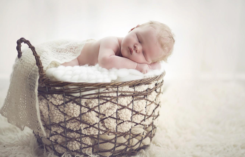 Wallpaper Basket Sleep Baby Cute Baby Images For Desktop Section Nastroeniya Download